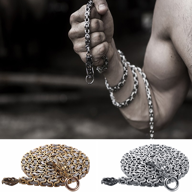 Tactical Outdoor Stainless Steel Dragon Hand Bracelet Whip Corrosion Resistance Self Defense Protection Waist Hanging Weapon