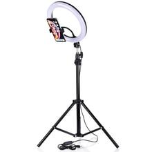 26Cm Led Ring Licht Voor Tik Tok Dimbare Fotografie Foto Studio Lamp Usb Plug Vrouwen Make Live Video Withtripod