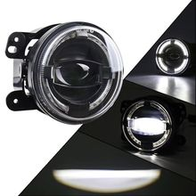4 zoll 30W LED Scheinwerfer Nebel Licht DRL Licht Für JEEP TJ LJ JK JKU Rubicon Sahara Dodge Chrysler frontschürze Off Road Lichter