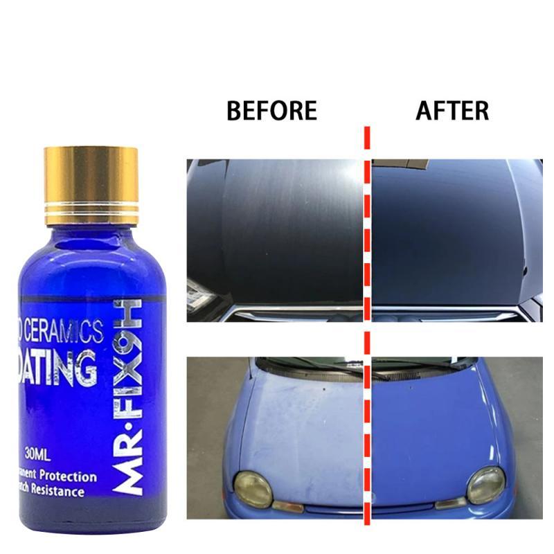 Жидкое керамическое покрытие 9H для автомобиля, гидрофобное покрытие для стекол, защита краски мотоцикла, устойчивое к царапинам покрытие д...