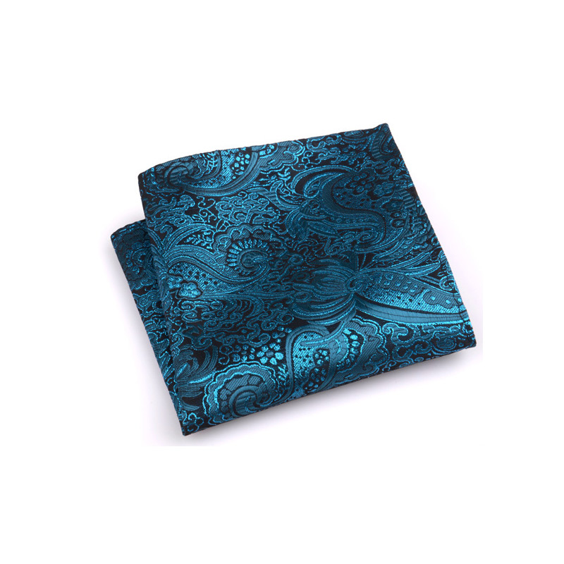 Vintage Men British Design Floral Print Pocket Square Handkerchief Chest Towel Suit Accessories LF88