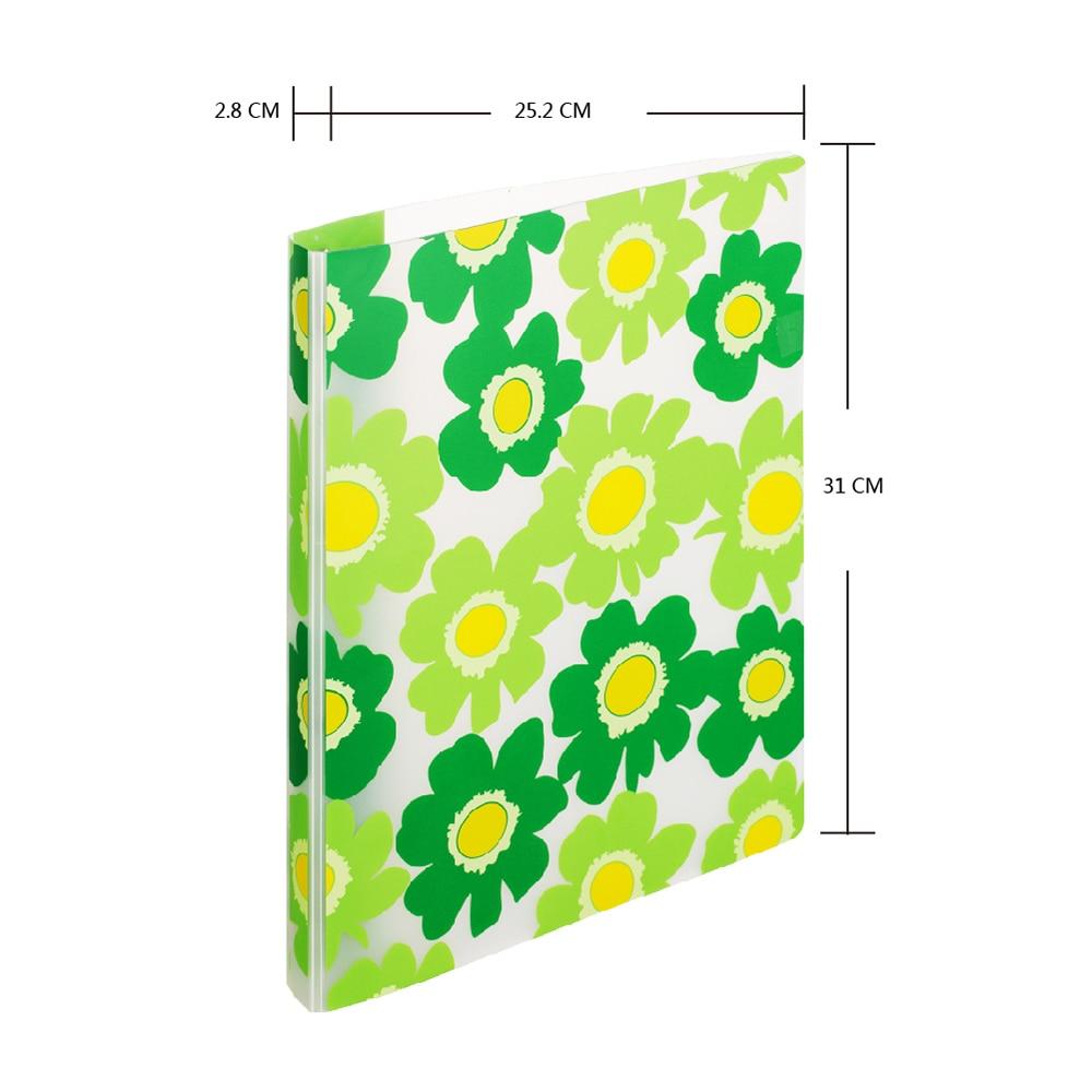 Comix А4 Летний Цветок красочное уплотнительное кольцо связующее, 16 мм емкость, а199 - Цвет: Светло-зеленый