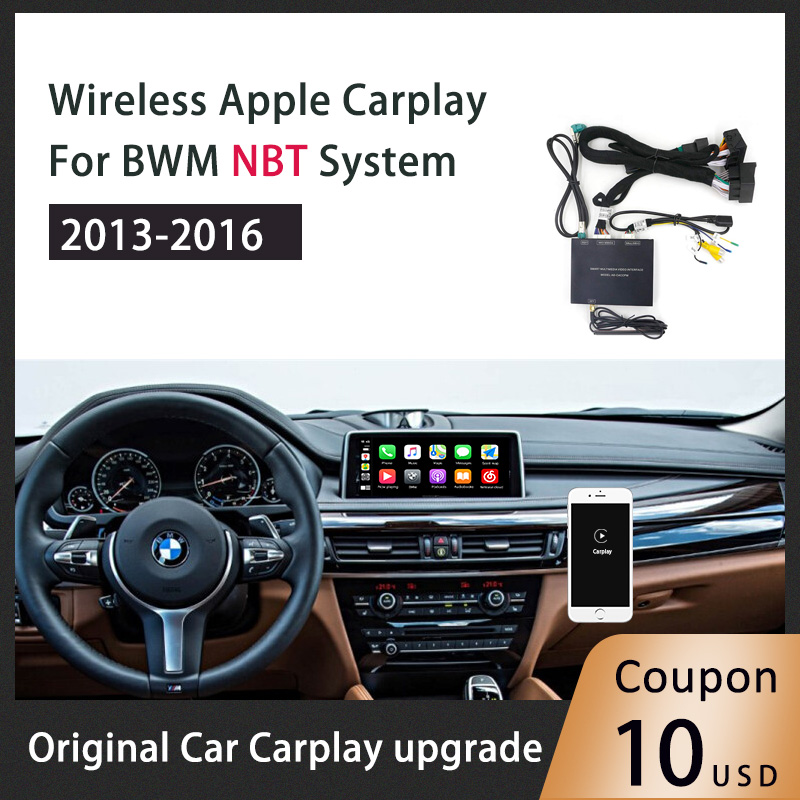 Wireless Carplay Android Auto Multimedia player Smart Box Car Retrofit for BWM Nbt system Car play Airplay/Mirrorlink image