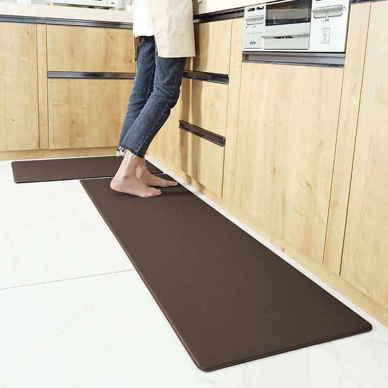 1 pc pvc cozinha tapete de couro longo tapete para o quarto sala estar tapetes tatami anti deslizamento à prova doilágua oilproof cozinha