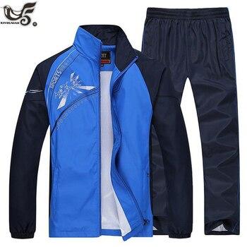 new 2020 plus size L~5XL Mens sportsuits spring autumn hoodies&Sweatshirts Men printed Tracksuits men`s Sportwear Set clothing