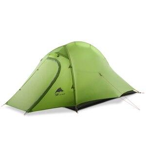 Image 1 - 3F UL GETRIEBE ZhengTu 2 Person Ultraleicht Zelt Einzigen 15D Nylon 3 oder 4 Jahreszeiten Im Freien wasserdichte winddicht Camping Zelt