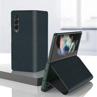 Funda abatible de cuero PU para Samsung Galaxy Z, funda plegable 3, 5G, antigolpes