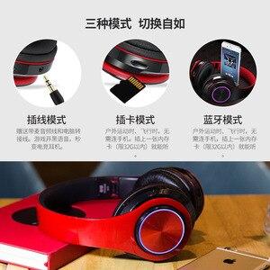 Image 2 - KAPCICE Micro SD Card Slot หูฟังไร้สายหูฟังบลูทูธหูฟังหูฟังพร้อมไมโครโฟนสำหรับโทรศัพท์มือถือ PC