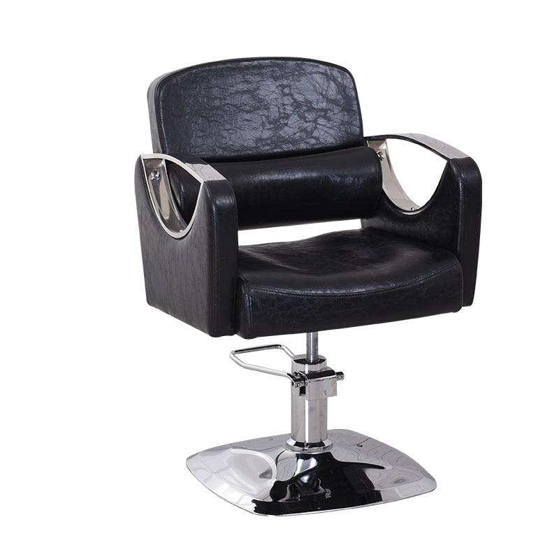 Hairdressing Chair Salon Lift Rotary Haircut Chair Cadeira De Barbeiro Barbearia Kappersstoel Kappersstoelen Metal Barbero