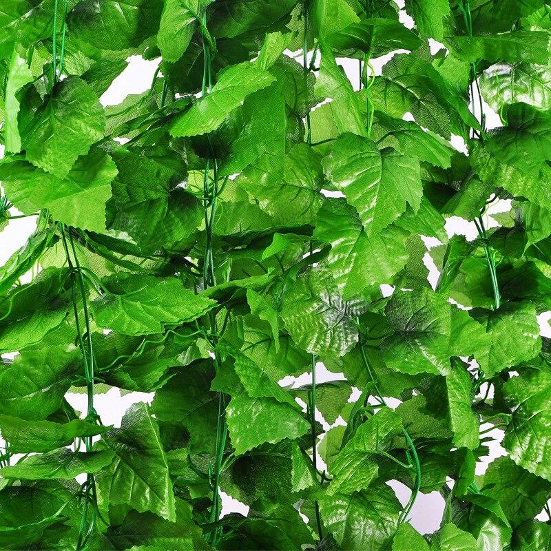 Недорогой искусственный венок 2,4 м с зелеными листьями плюща, искусственная винограда лоза, цветочное украшение для дома, пластиковый искус...