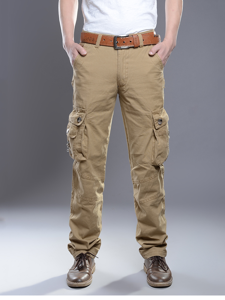 KSTUN New Cargo Pants for Men Baggy Casual Pants Male Overalls Full Length Trousers Loose Straight Cut Pants Zippers Pockets Desinger 11