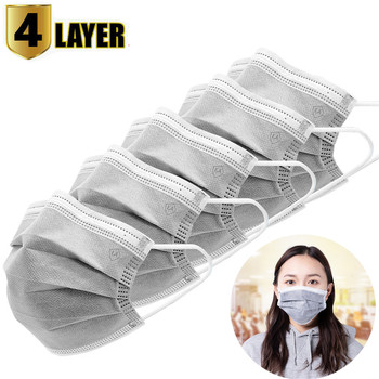 10pcs Men Women adult Cotton Anti Dust Mask Activated Filter 3 layers mouth mask muffle Bacteria Proof Flu Face Masks