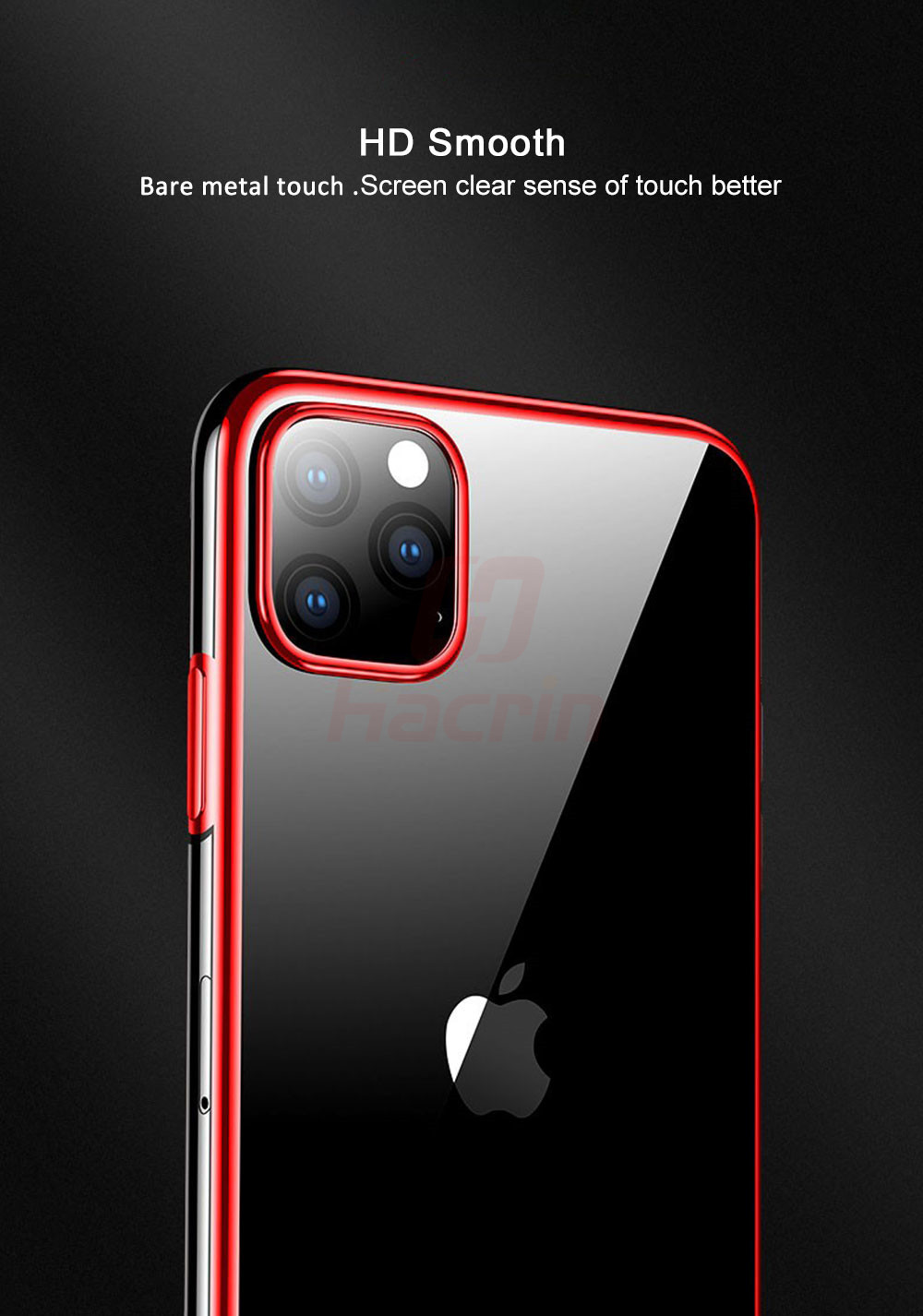 Hacrin Transparent TPU Silicone Case for iPhone 11/11 Pro/11 Pro Max 30
