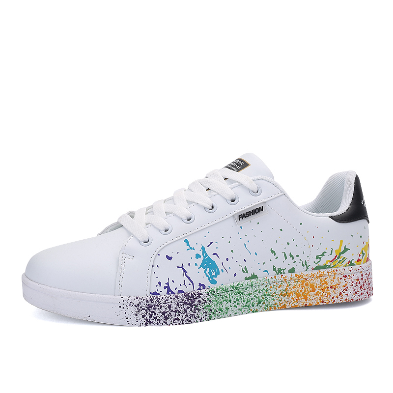 Couples White Sneakers Men Skateboard Shoes Women Comfortable Sport Superstar Basket Femme 2019 Flat PU Walking Chinese Sneakers