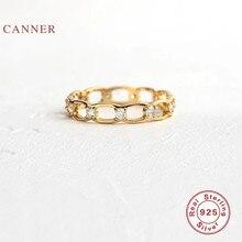 CANNER – Bague en diamant découpée, 100% argent Sterling 925, anneaux en or pour femmes, Bijoux fins de luxe, anneaux de mariage