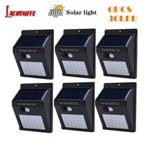 цена на 1/6Pcs 30 LED Lamp Solar Garland Power Lamp PIR Motion Sensor Wall Light Outdoor Solar Lighting Rechargeable Energy Garden Light