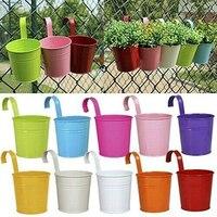 10pcs/Set Flower Pots Balcony Window Garden Iron Decoration Colorful Flower Pots Hanging New Arrivals Kits
