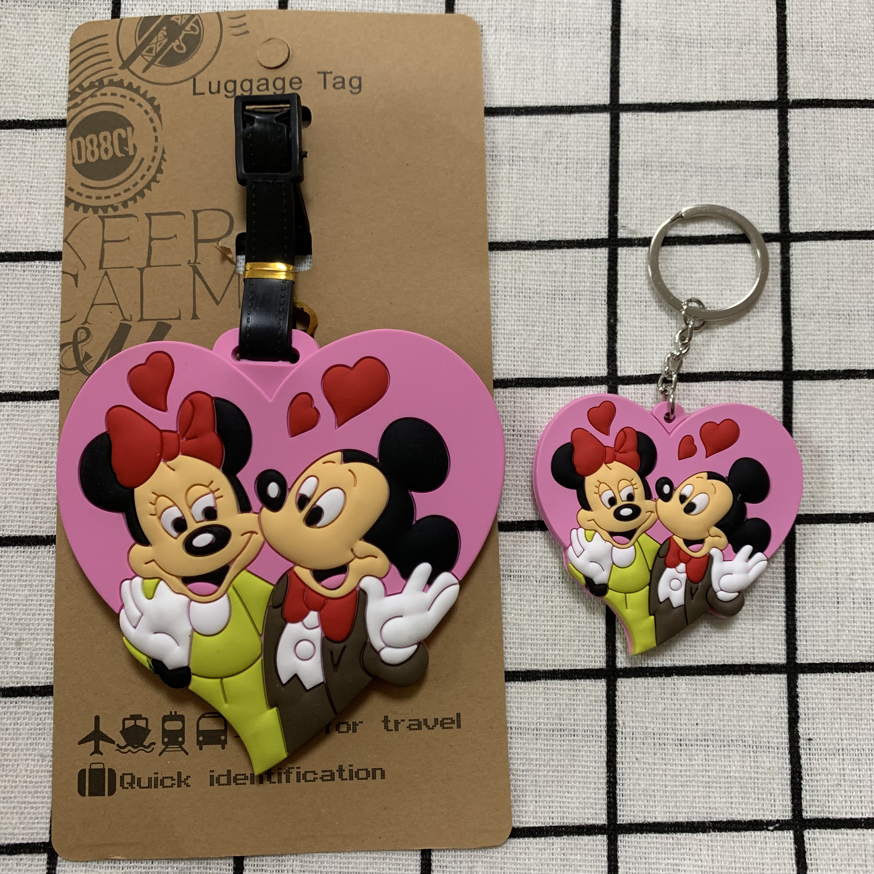 Micky Minnie Love Anime Travel Accessories Luggage Tag Suitcase ID Address Portable Tags Holder Baggage Label New
