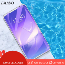 IMIDO Full Cover Tempered Glass For Meizu 16 16th Plus 16X Anti Blue Glass Protective Glass Screen Protector Film for Meizu 16S smartdevil screen protector for meizu 16th tempered glass protector film 2 pieces mobile phone toughened film anti fingerprint