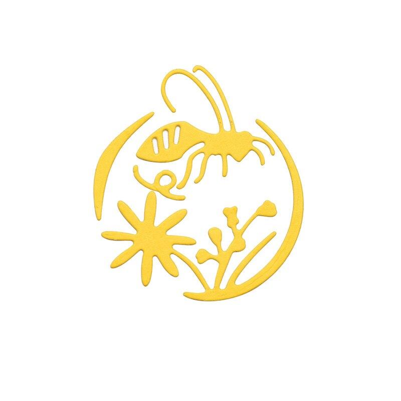 DiyArts Garden Bee Metal Cutting Dies Cut Die Mold Cute Decoration Scrapbook Paper Craft Knife Mould Blade Punch Stencils Dies in Cutting Dies from Home Garden