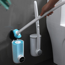 Toilet-Brush Cleaning-Fluid WC Disposable Bathroom No with Household No-Dead-Corner Comes