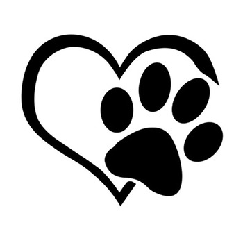 cartoon Animal footprint Sticker Car Glass Window Decals Dog Cat Paw Print Stickers Vinyl Decal Kids Room Wall Stickers image