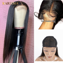 Karizma 4x4 Lace Closure Human Hair Wigs Non Remy Closure Lace Wigs Brazilian Hair Wigs Straight Lace Closure Wig With Baby Hair