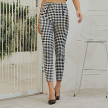 Sisjuly Spring 2020 Fashion Women Plaid Casual Pan
