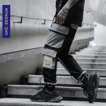 UNCLEDONJM Side Pocket Cargo Harem Pants Mens Casual Jogger Streetwear Hip Hop Streetwear Trousers Male Cargo Pants K809 стоимость
