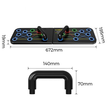 16 in 1 Push-Up Rack Board Training Sport Workout Fitness Gym Equipment Push Up Stand for ABS Abdominal Muscle Building Exercise 2