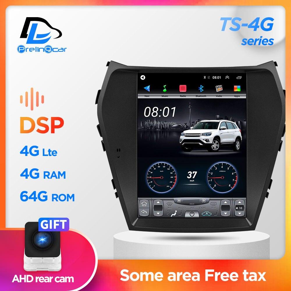 64G ROM Vertical Screen Android Gps Multimedia Video Radio Player In Dash For Hyundai IX45 New Satan Fe  Car Navigaton Stereo