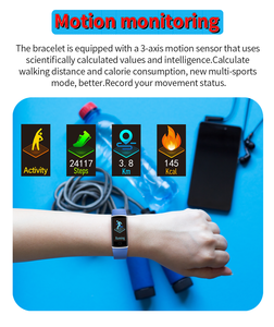 Image 5 - Z9 Smart Fitness Bracelet with Pressure Measurement Health Bracelet 5 in 1 Wristband Tracker Pedometer Heart Rate Monitor Band