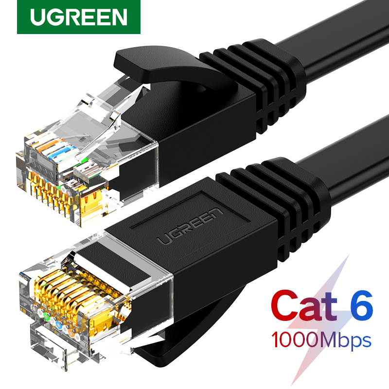 Ugreen Ethernet Kabel Cat6 Lan Kabel UTP CAT 6 RJ 45 Netzwerk Kabel 10m/50m/100m Patchkabel für Laptop Router RJ45 Netzwerk Kabel