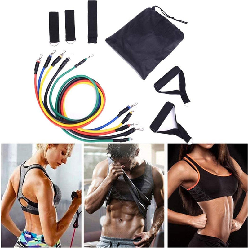 Latex Resistance Bands Slimming Product Weight Loss Training Exercise Yoga Tubes Pull Rope Rubber Expander Elastic Bands Fitness Pakistan