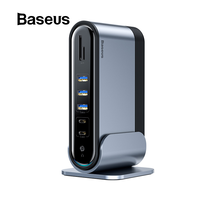 Baseus USB C HUB Type C To Multi HDMI USB 3.0 With Power Adapter Docking Station For MacBook Pro RJ45 OTG USB Ports USB HUB