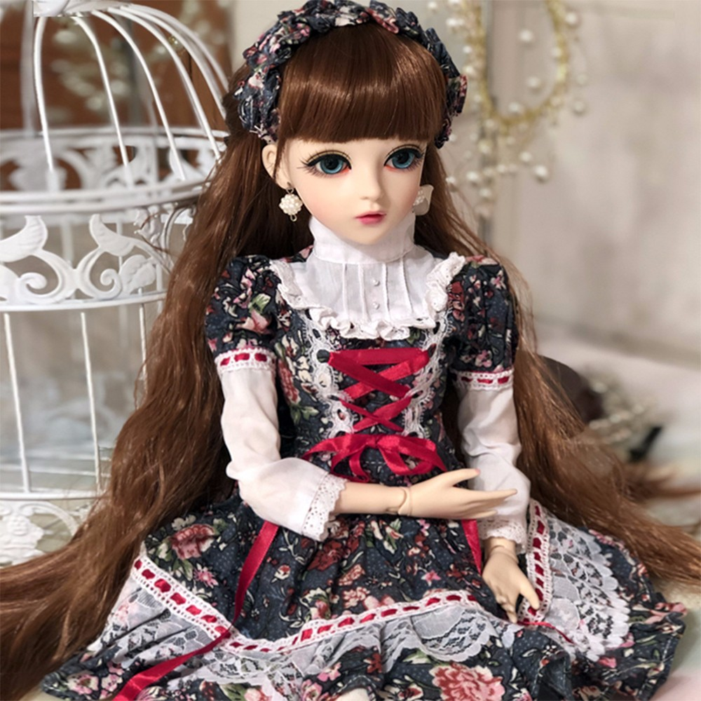 60cm 1//3 BJD Doll Girls Gift with Free Eyes Face Makeup Wigs Hat Shoes Xmas Gift