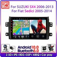 アンドロイド10車用SX4 2006 2011 2012 2013フィアットsedici 2005 2014マルチメディアビデオプレーヤーナビゲーションgps 2 din
