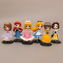 16cm princesses figure Toys Dolls Snow White Sophia Alice Cinderella Belle Mermaid PVC Figures toys брюки sophia sophia so042ewgoif9