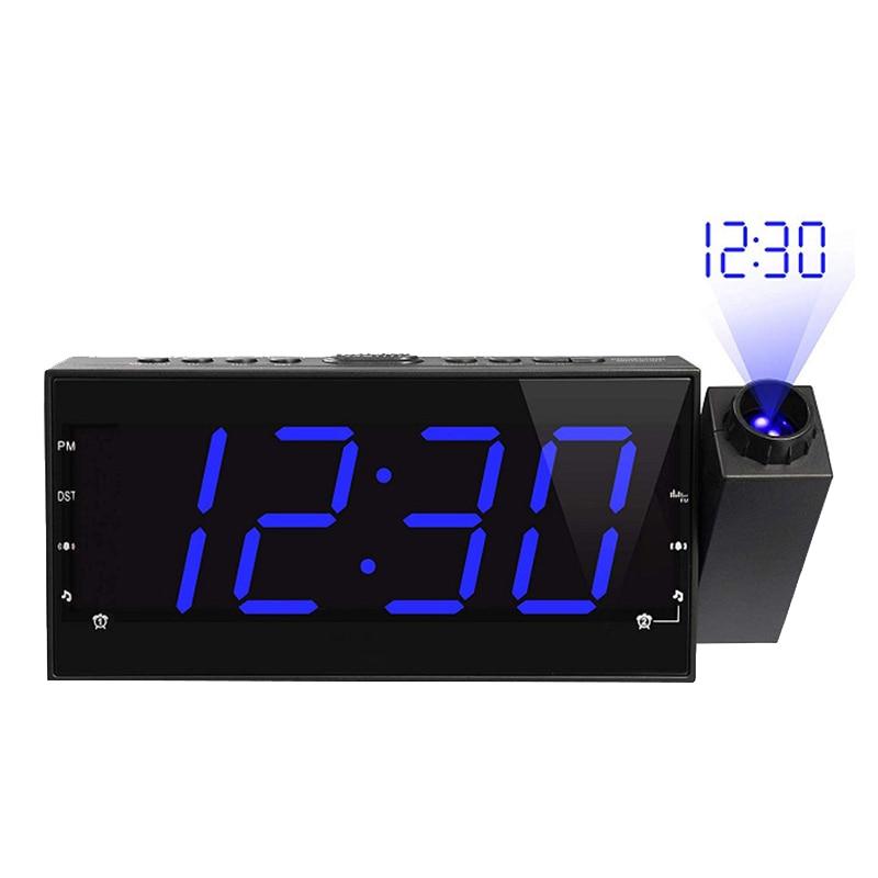 Projection Alarm Clock With Fm Radio