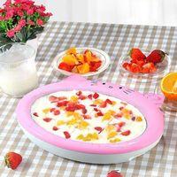 Eis Maschine Kleine Gebratene Eis Maschine Mini Gebraten Eis Platte von Gebraten Joghurt Maschine Kinder Eis Maschine Hausgemachte haus-in Eismaschinen aus Haushaltsgeräte bei