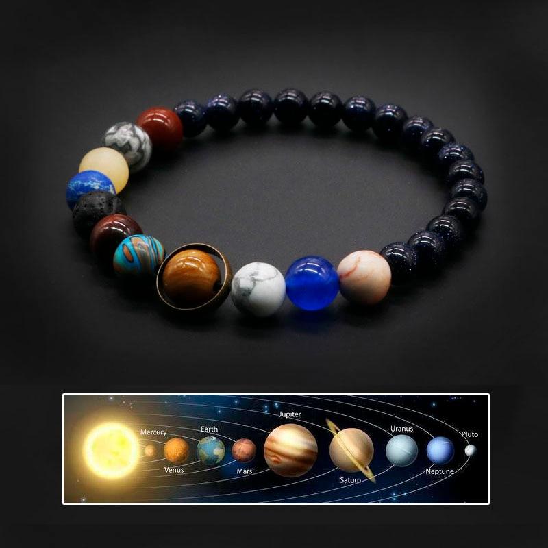 2020 universo sistema solare bracciale donna pietra naturale otto pianeti bracciale uomo migliori amici regalo per lui regalo per lei MY8 1
