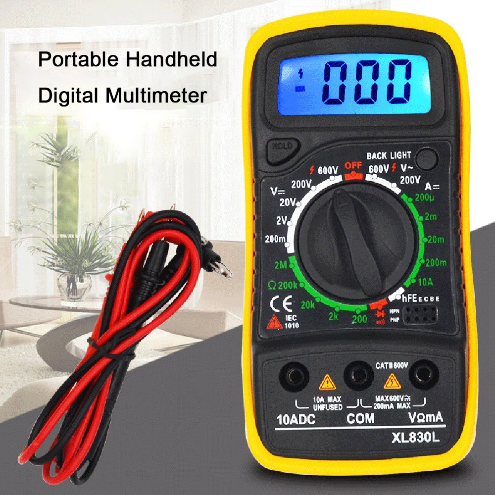 Multimeter Portable High Precision Digital Display Universal Strap With Backlight Electric Multifunction Meter Without Battery