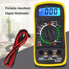 Multimeter Tragbare Hohe Präzision Digital Display Universal Strap Mit Hintergrundbeleuchtung Elektrische Multifunktions Meter Ohne batterie