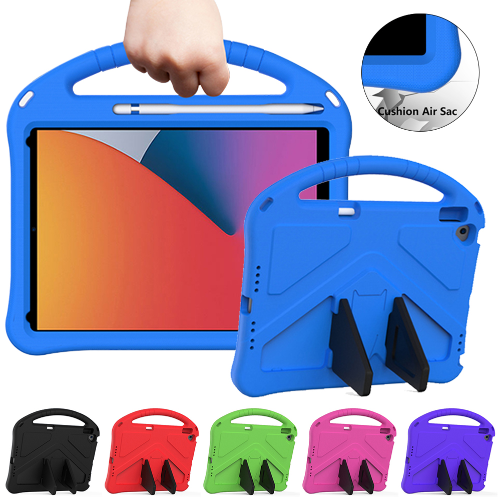 for iPad Air 4 Case 2020 A2316 A2324 EVA Safe Kids Handle Stand Tablet Case Cover