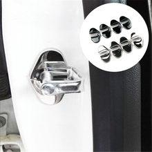 PP plastic Door Lock Striker Cover For Chevrolet Malibu Aveo Sonic Cruze Volt Camaro Accessories Car-styling Door Lock Decoration Protector Cover 4PCS