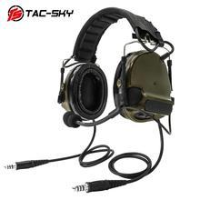 TAC-SKY COMTAC III New Detachable Headband Dual Communication Silicone Earmuffs Tactical Headset Noise Reduction Pickup comtac