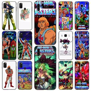 HE-MAN And The Masters Of The Universe Phone Case Black For Samsung S10 5G/lite/plus S20/Plus/Ultra Note8/9/10/20Pro/plus Cases image