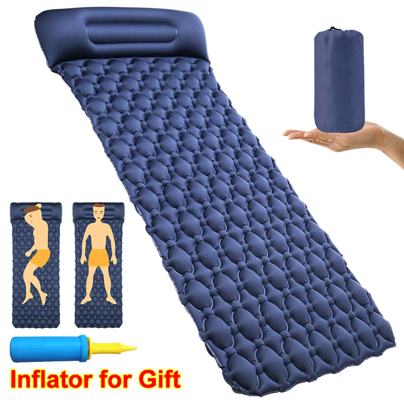 Inflatable Mattress For Sleeping Mat Portable Camping Pad Beach Picnic Sofa Outdoor Backpacking Hiking Air Mattress In The Car