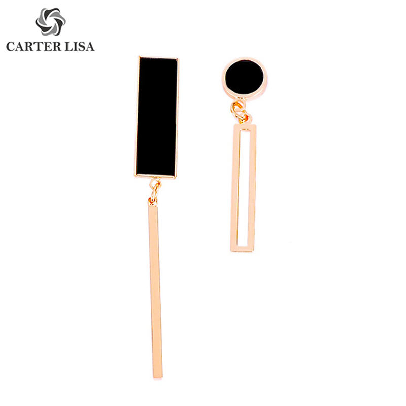 CARTER LISA Simple Gold Silver Bar Thin Line Drop Dangle Statement Earings For Women Boho Fashion Jewelry Pendientes Brinco