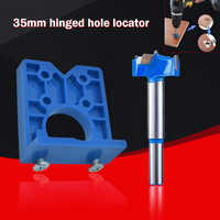 35mm W/ Hinge Drill DIY Tool Door Cabinets Hole Locator Template Accurate Woodworking Hinge Drilling Guide Install The Hinges